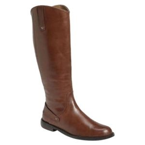 NEW Halogen Kerri Brown Leather Riding Boot